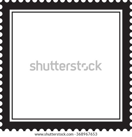 Postage stamp, vector frame - stock vector