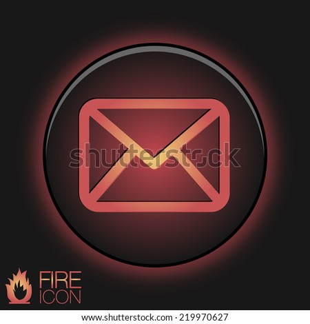 postal envelope sign. e-mail symbol . icon envelope. - stock vector