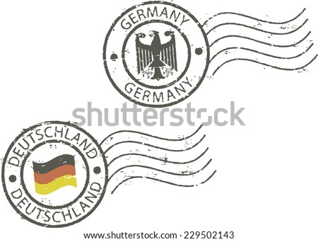 Postal grunge stamps 'Germany' - stock vector