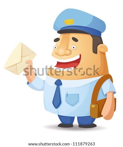 Postal Worker - stock vector