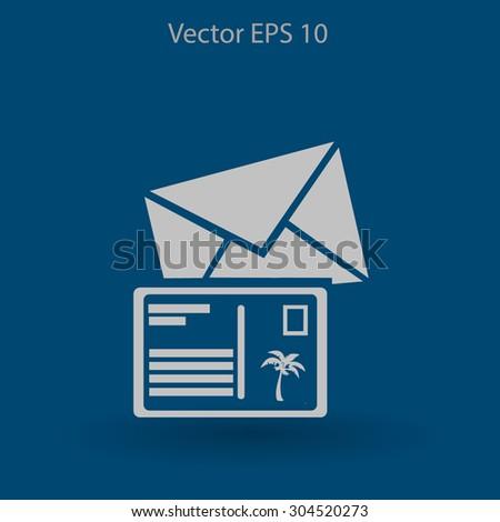 Postcards vector illustration - stock vector