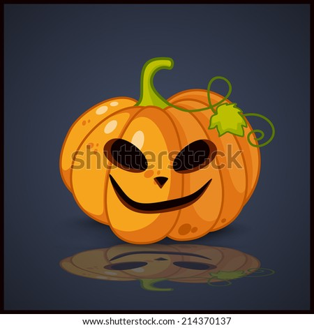 Poster, banner and background for pumpkins for Halloween - stock vector