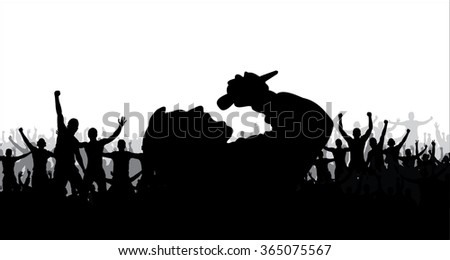Poster for music concert and club party - stock vector