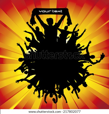 Poster for sports championships and concerts.   - stock vector