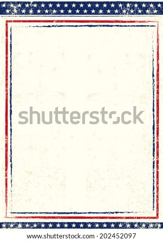Poster of US. An american background for you with a large empty space for your text - stock vector