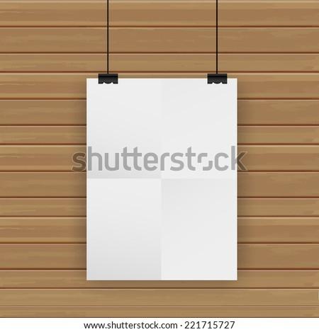 Poster on wall, Vector illustration template modern design - stock vector