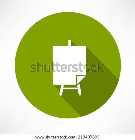 Poster stands icon - stock vector