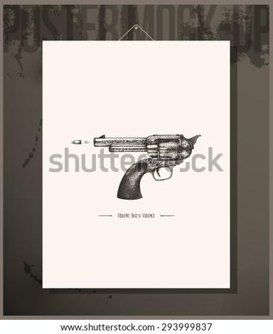 Poster- Violence begets violence - stock vector