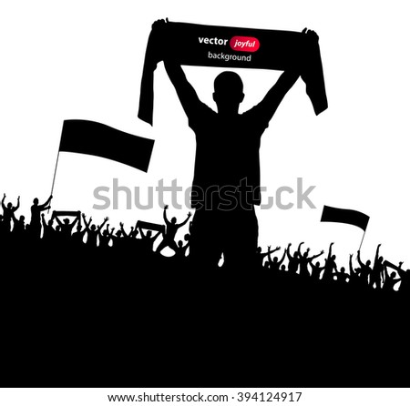 Posters with cheering fans - stock vector