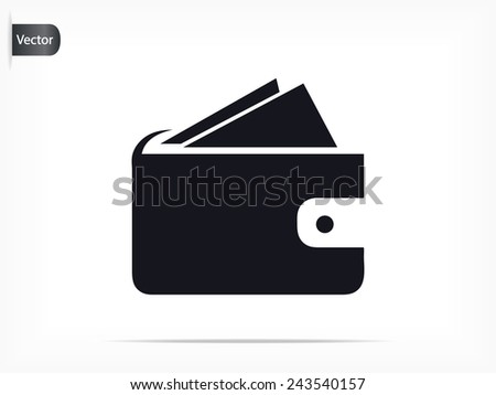 pouch icon - stock vector