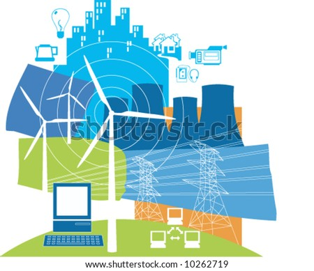 Power and energy - stock vector