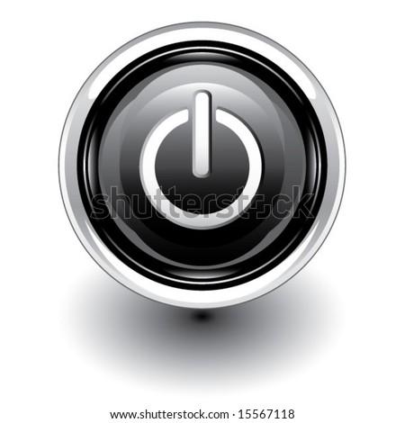 Power Button Vector - stock vector