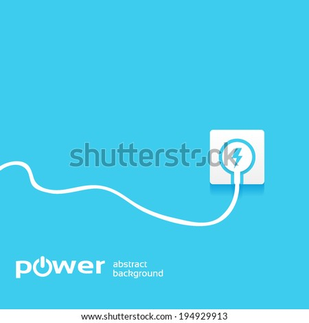 power concept background design layout for poster flyer cover brochure - stock vector