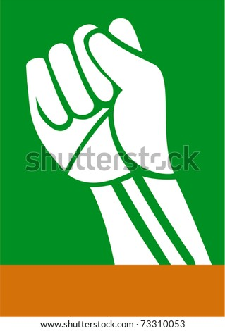 Power fist of the revolution in South Africa - stock vector