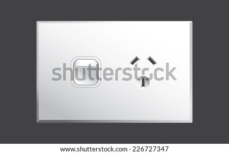 Power point or power outlet for Australia in vector format - stock vector