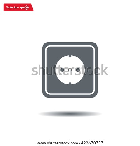 power socket vector icon - stock vector