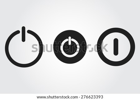 power vector icon - stock vector