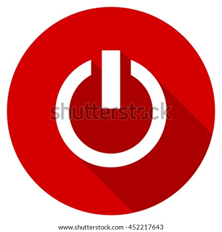 power vector icon, red modern flat design web element - stock vector