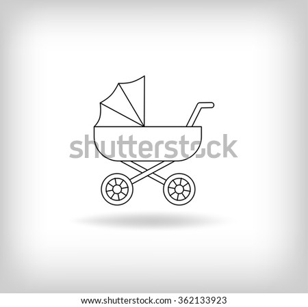Pram icon. Baby Carriage Logo. Vector Illustration - stock vector