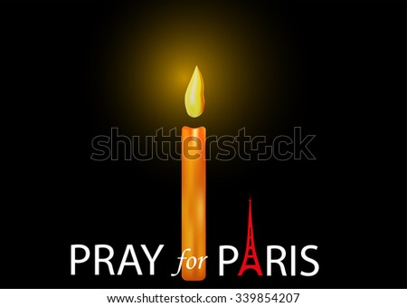 Pray for Paris - stock vector