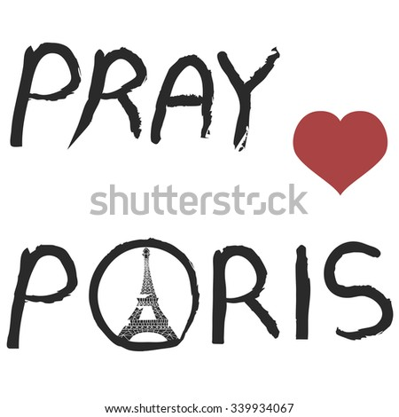 pray for Paris background - stock vector