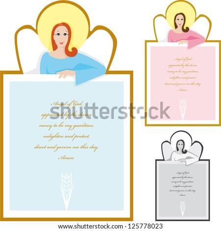 Prayer Angel of God - stock vector