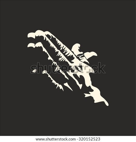 Praying hands - stock vector
