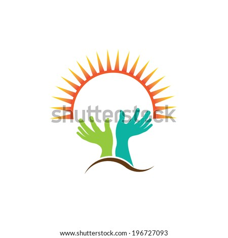 Praying hands image. Concept of religion,creed, petition. Vector icon - stock vector