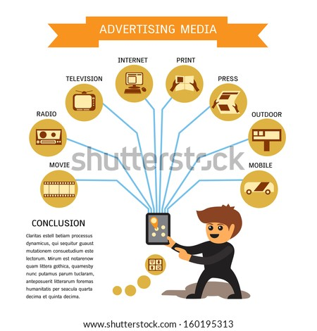 Pre print advertising media elements; vector 10 encapsulated postscript concept.  - stock vector