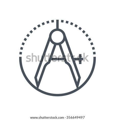 Precision icon suitable for info graphics, websites and print media and  interfaces. Line vector icon. - stock vector