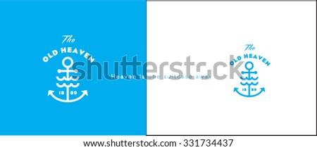 premium ancor vector logo design  - stock vector