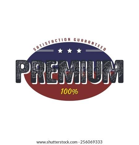 premium badge - stock vector