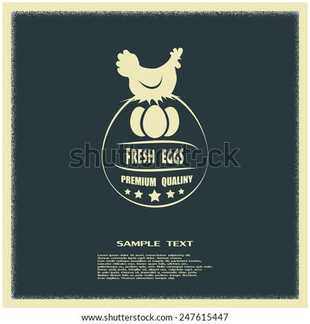 premium chicken and egg - stock vector