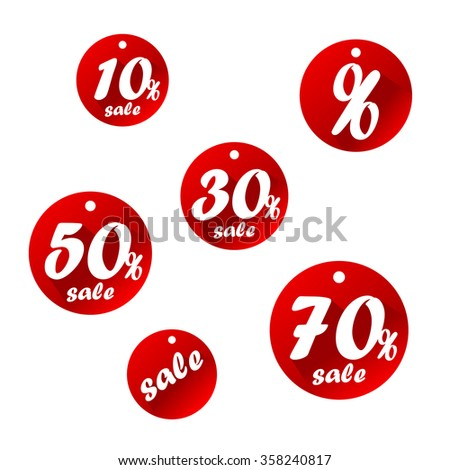 Premium collection of red paper. Vector - stock vector
