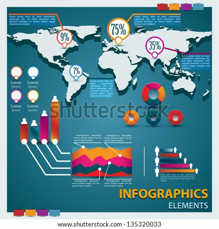 Premium infographics master collection - stock vector