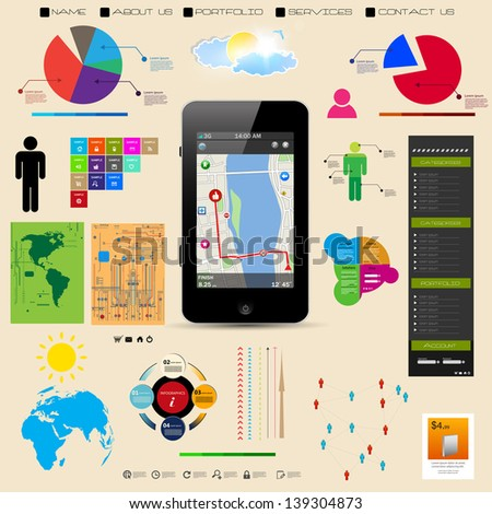 Premium infographics master collection vector eps10, you can easy editable - stock vector