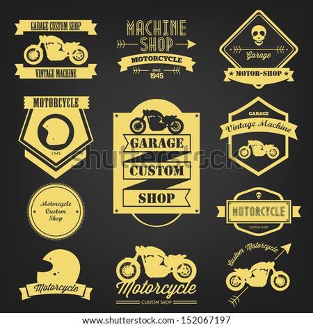 Premium Motorcycle Vintage Label - stock vector