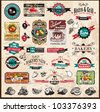 Premium quality collection of Vintage Restaurant, bistro and food & co labels with different styles and space for text. - stock vector