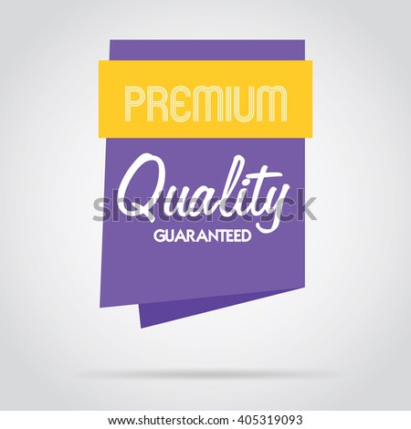 Premium quality flat abstract isolated vector banner. Premium quality design. Advertisement elements. Premium quality badge. Special offer badge. Premium quality tag. Premium sign.  - stock vector