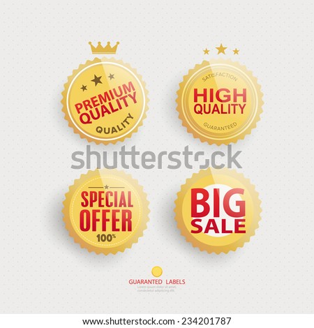 Premium quality labels set design. - stock vector