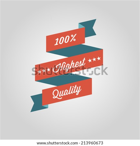 Premium Quality Labels with retro vintage design  - stock vector
