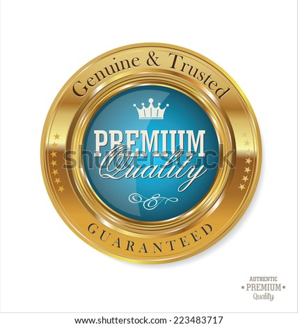 Premium Quality retro Label - stock vector