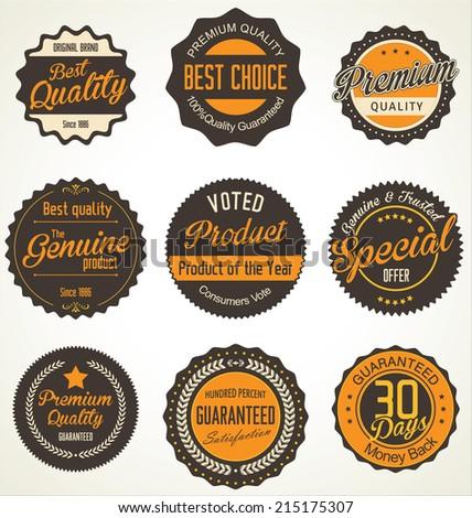 Premium quality retro Labels - stock vector