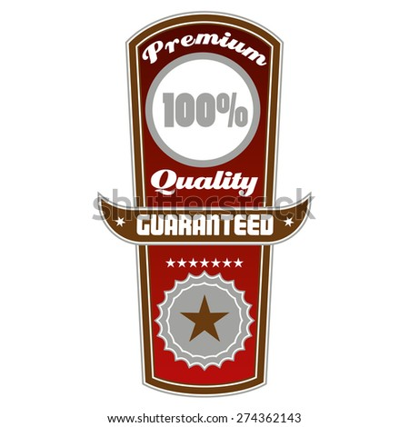 Premium quality totem label - stock vector