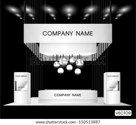 premium trade exhibition booth - stock vector