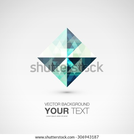 Premium trendy crystal gem geometric logo icons and abstract shapes for business visual identity triangle, polygons and rectangular designs vector stock eps10 illustration - stock vector