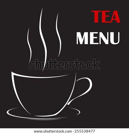Preparation for tea or coffee menu. - stock vector