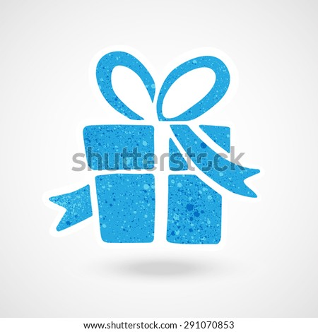 present icon vector with texture. - stock vector