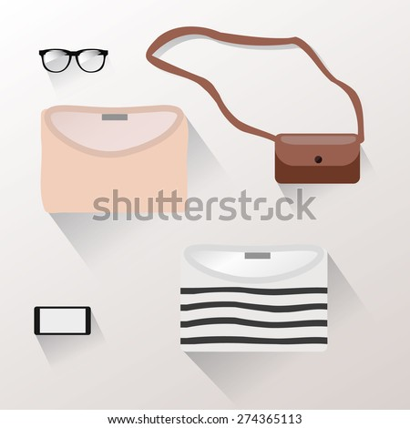 Presentation of accessories women swear - stock vector