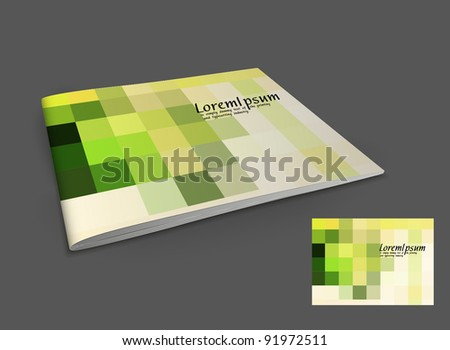 Presentation of booklet design content background. editable vector illustration - stock vector